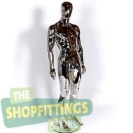 Male Chrome Mannequin With Egg Style Head